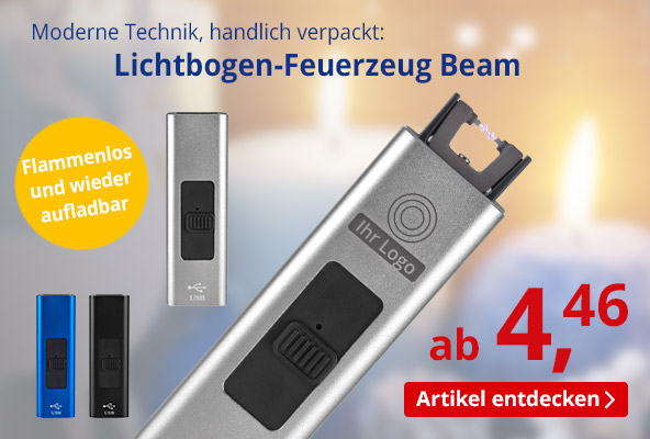 Lichtbogen-Feuerzeug Beam – BETTMER Erfolgreiche Werbeartikel