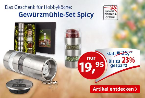 Gewürzmühle-Set Spicy – BETTMER Erfolgreiche Werbeartikel
