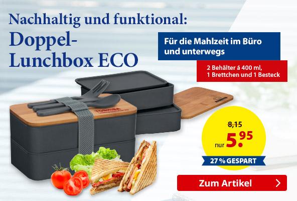 Doppel-Lunchbox ECO  bei  – BETTMER - Erfolgreiche Werbeartikel