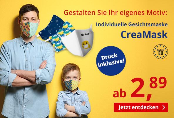 Individuelle Gesichtsmaske inkl. mehrfarbigem Druck – BETTMER Erfolgreiche Werbeartikel