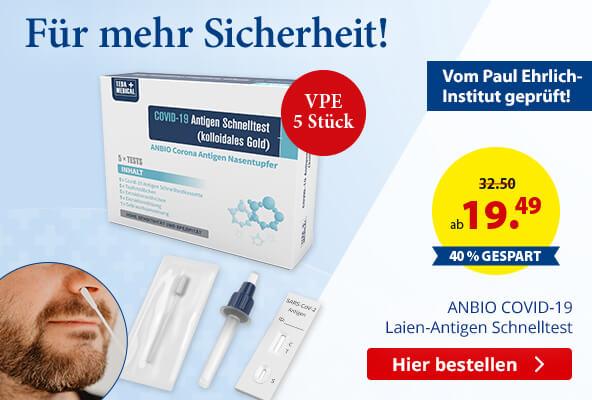 ANBIO COVID-19 Laien-Antigen Nasentupfer Schnelltest bestellen bei BETTMER – Erfolgreiche Werbeartikel