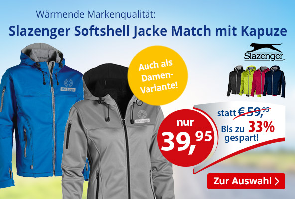 Slazenge Softshell Jacke Match – BETTMER Erfolgreiche Werbeartikel