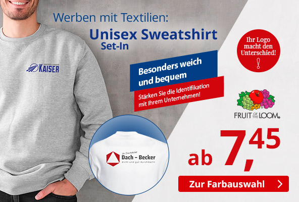 FRUIT OF THE LOOM Unisex Sweatshirt – BETTMER - Erfolgreiche Werbeartikel