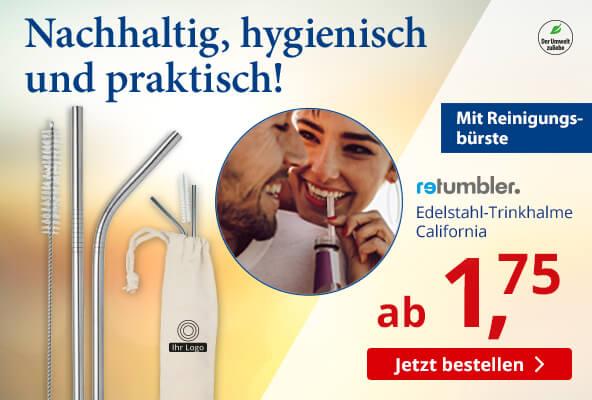 Edelstahl-Trinkhalme California bei BETTMER – Erfolgreiche Werbeartikel