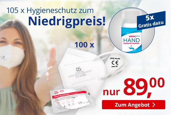 Werbe-Sparset: Hygieneartikel, 105-tlg – BETTMER - Erfolgreiche Werbeartikel.