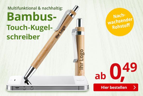 Bambus-Touch-Kugelschreiber – BETTMER Erfolgreiche Werbeartikel