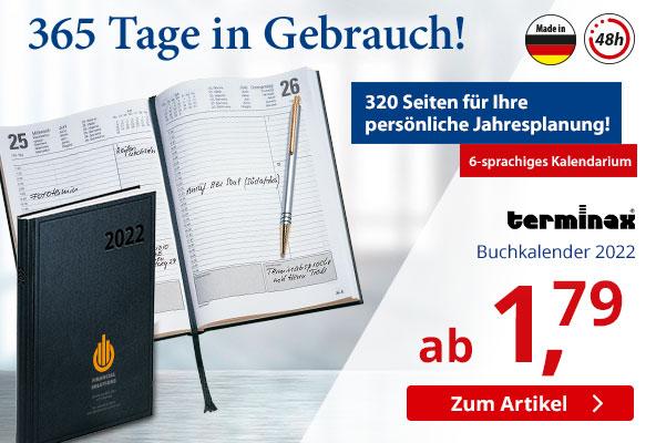 terminax Buchkalender 2022 schwarz bei  – BETTMER - Erfolgreiche Werbeartikel