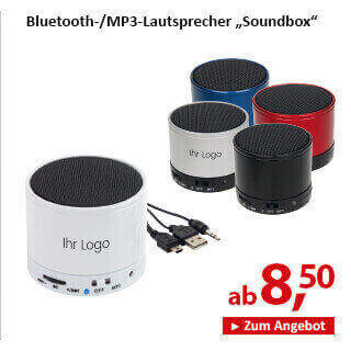 Bluetooth-/MP3-Lautsprecher Soundbox