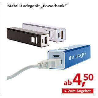 Metall-Ladegerät Powerbank