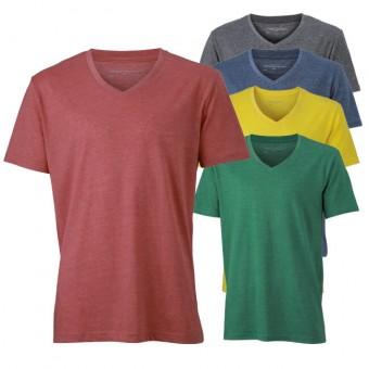 Original James & Nicholson V-Neck T-Shirt (Herren)