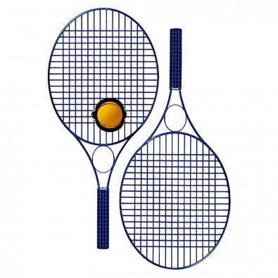 Tennis-Set Pro Colour mit Werbefeld, weiß
