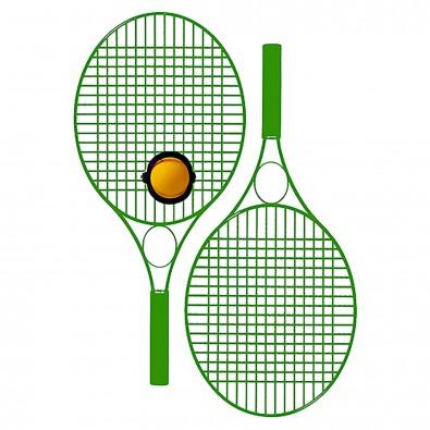 Tennis-Set Pro Colour mit Werbefeld, standard-grün