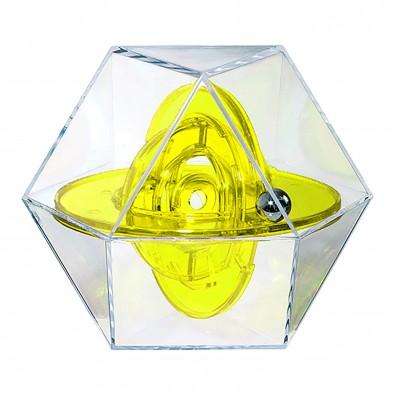 Pussycat Geduldspiel Dymaxion Five, transparent-gelb