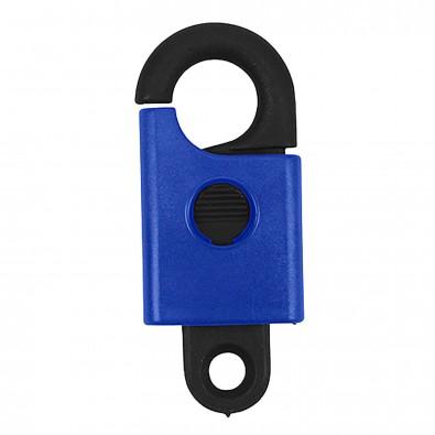 Schlüsselanhänger Safety, schwarz/blau
