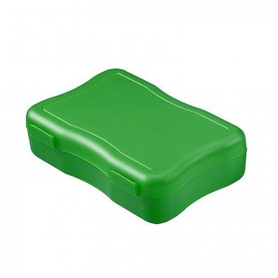 Brotzeitdose Wave, klein standard-grün