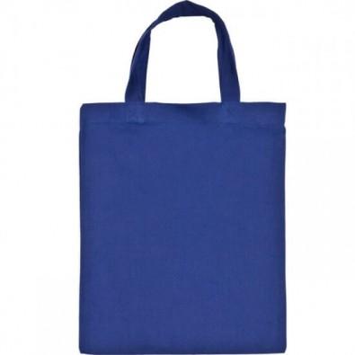 Mini-Baumwolltasche, Blau
