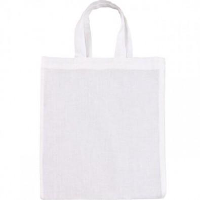 Mini-Baumwolltasche, Weiß