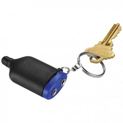 2 in 1 Musiksplitter Schlüsselanhänger mit Stylus, schwarz,royalblau