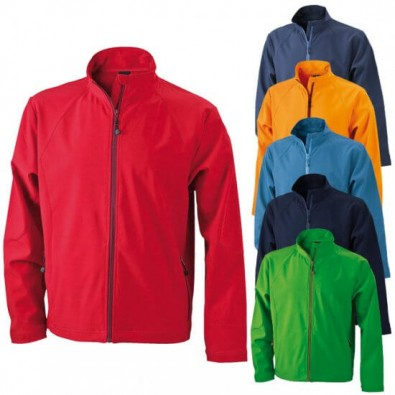 Original James & Nicholson Softshell-Funktionsjacke Rot | XXL