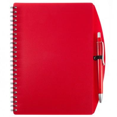 Notizbuch Busy mit Kugelschreiber, A5 Rot | A5