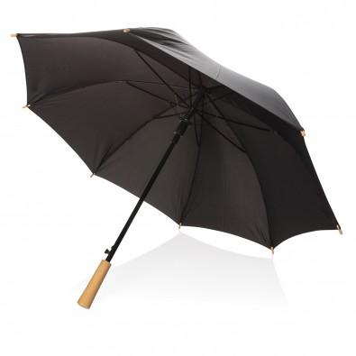 """23"""" RPET Schirm mit automatischer Öffnung, schwarz"""