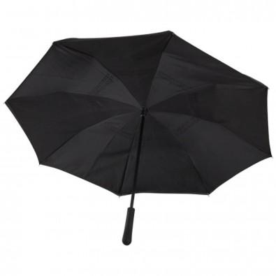 23 Zoll Lima Wende-Regenschirm, schwarz