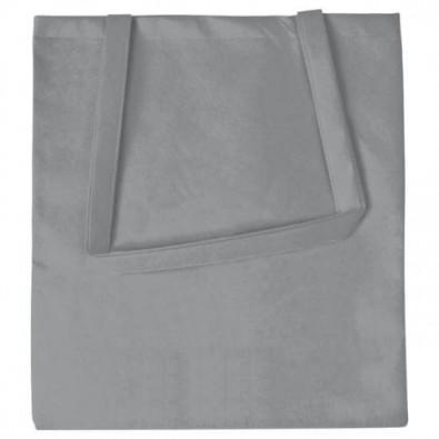 Joytex® Vliestasche Textile mit langen Henkeln, Hellgrau
