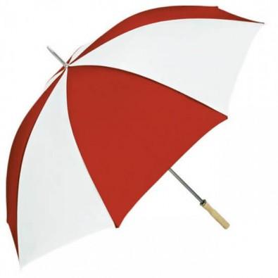 Portier-Stockschirm Rot/Weiß