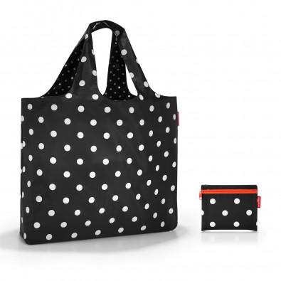 Original Reisenthel® mini maxi beachbag mixed dots, schwarz / weiß