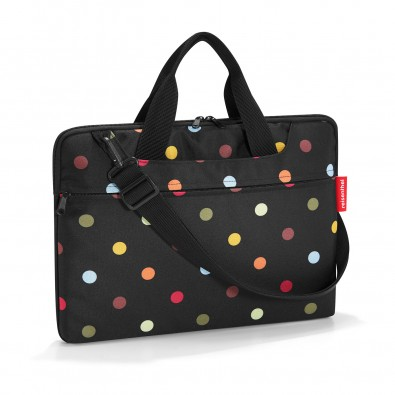 Original Reisenthel® netbookbag dots, schwarz/farbig