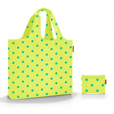 Original Reisenthel® mini maxi beachbag lemon dots, grün