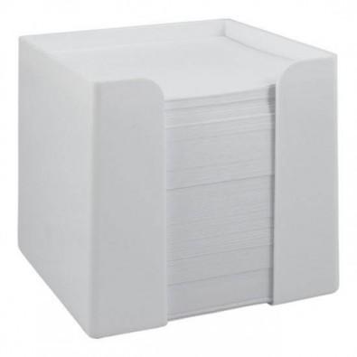 Zettelbox 10 x 10 x 10 cm - Notizquader Weiß