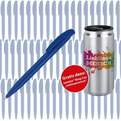 Werbeset SENATOR Kugelschreiber Nature Plus, 500-teilig, blau