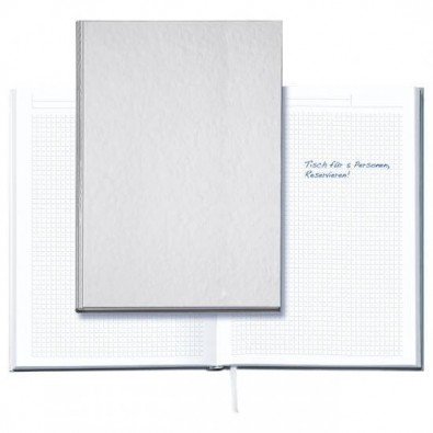 Notizbuch Note-Book, DIN A4, Neutral Silber, DIN A4