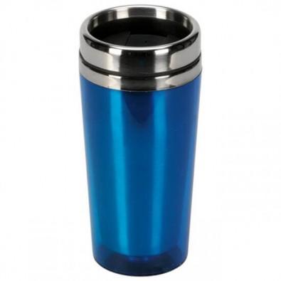 Doppelwandiger Thermobecher, 0,5 l Blau