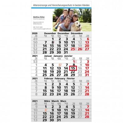 4-Monats-Wandkalender Business 2020