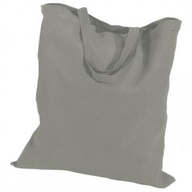 Baumwolltasche, kurze Henkel Grau | kurze Henkel