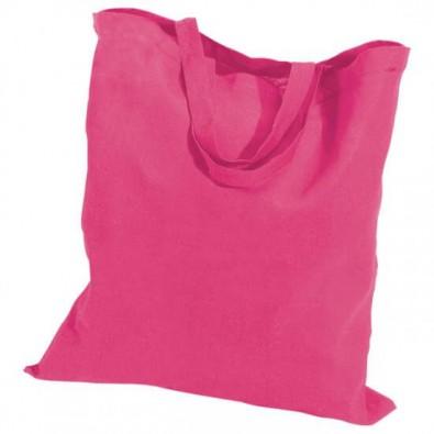 Baumwolltasche, kurze Henkel, Pink