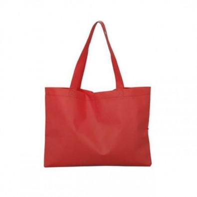 Maxi-Vliestasche Textile mit langen Henkeln, Rot