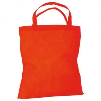 Vliestasche Textile mit kurzen Henkeln Rot
