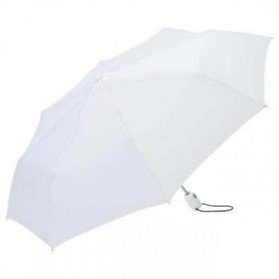 Fare® Automatik-Taschenschirm Open-Close Weiß