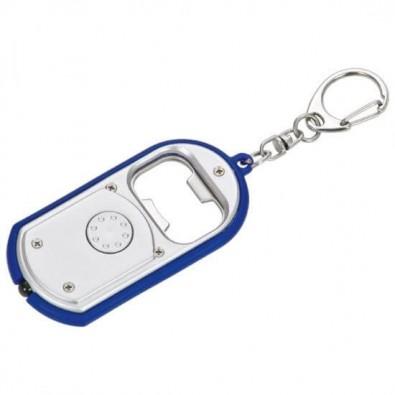 Schlüsselleuchte mit Kapselheber, Silber/Blau