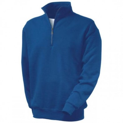Original Fruit of the Loom® Zip-Neck-Sweat, Royal, M