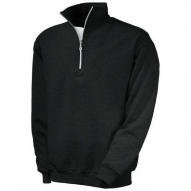 Original Fruit of the Loom® Zip-Neck-Sweat Schwarz | XL