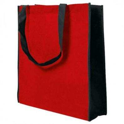 Joytex® Vliestasche Big Shopper, Rot/Schwarz