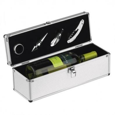 Luxus-Weinbox Alu-Line