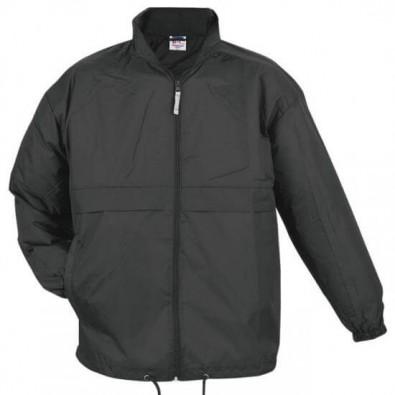 B&C Collection Unisex Windbreaker Jacke, schwarz, XL