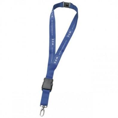 Lanyard Schlüsselband, 20 mm, Blau