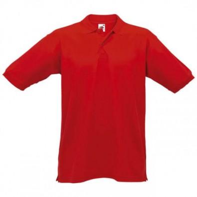 Fruit of the Loom Polo Piqué Shirt rot XL - Bettmer.de 07762c3817