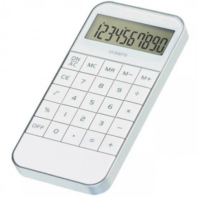 Design-Taschenrechner, weiß